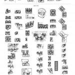 Lámina 60x80 cm. con 100 plantas de edificios de viviendas de Madrid desde 1900